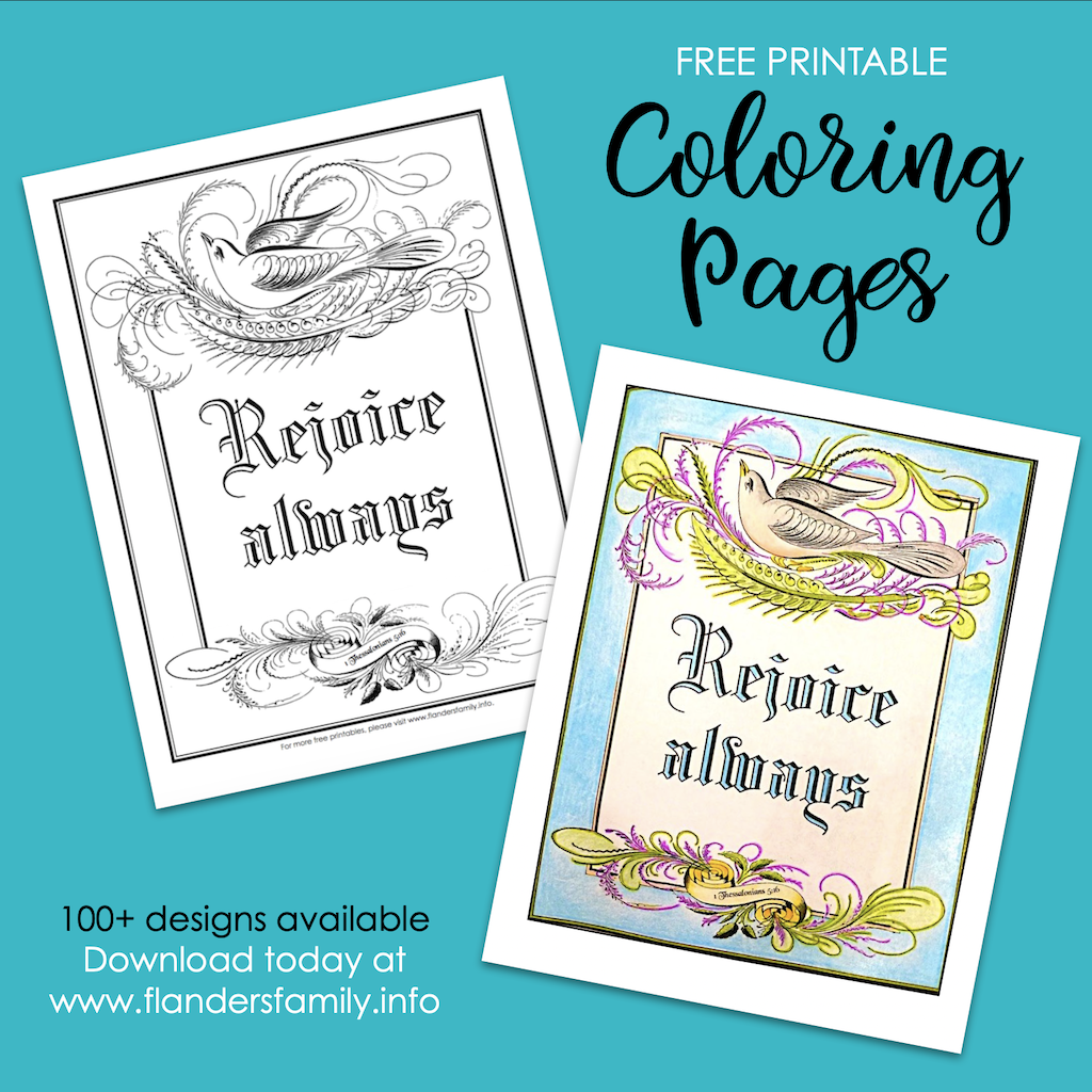 Rejoice Always Coloring Page