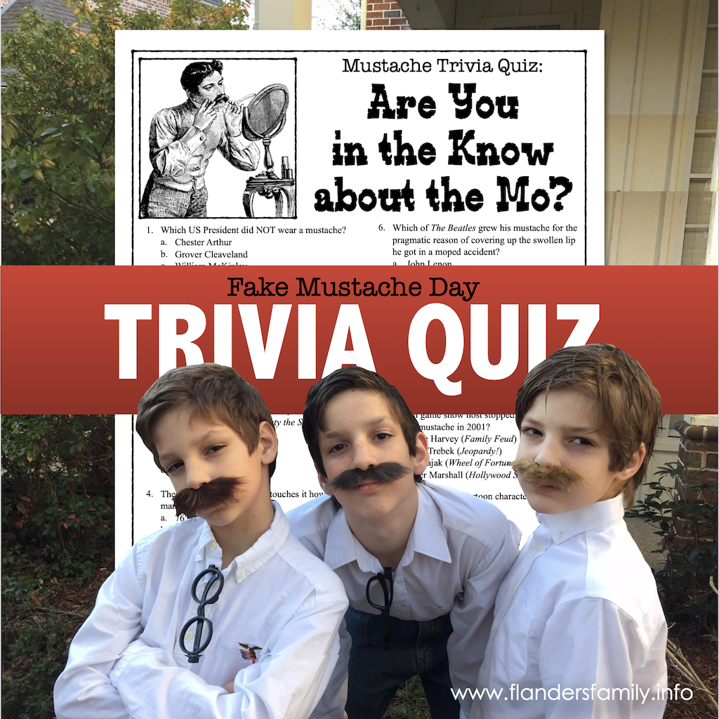 Fake Mustache Day Trivia Test