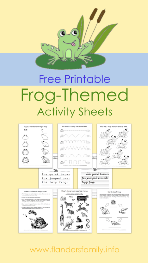 Free Printable Frog-Themed Activity Sheets - Perfect for Leap Day!