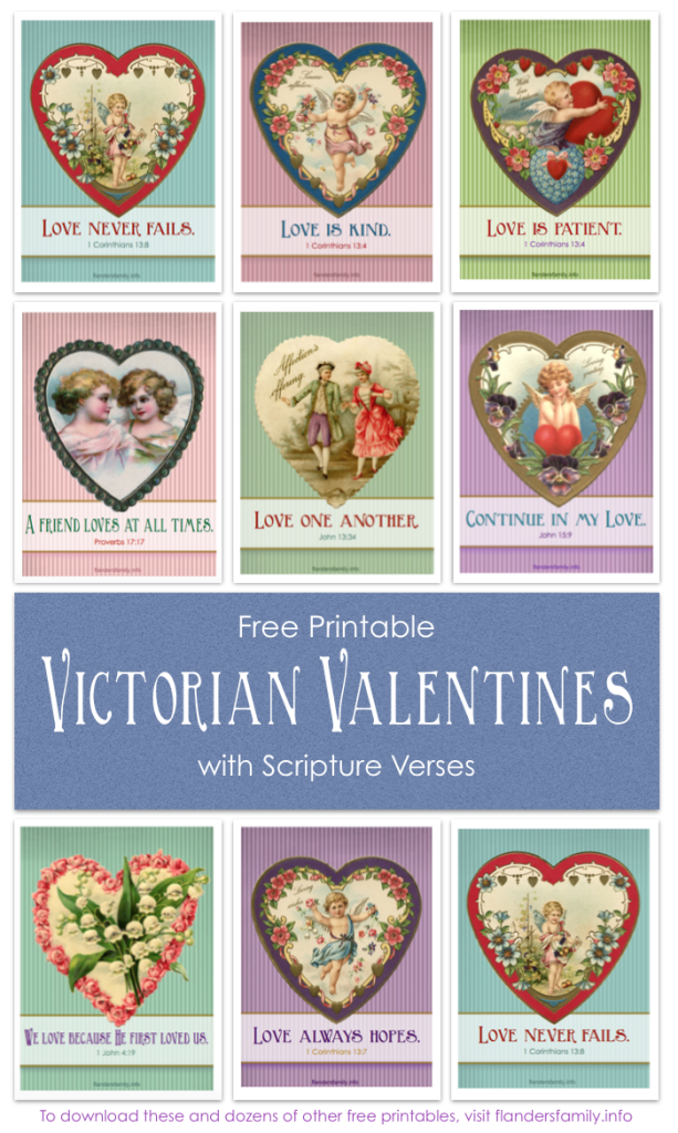 Free Printable Victorian Valentines with Scripture