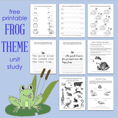 Free Printable Frog Themed Activity Sheets