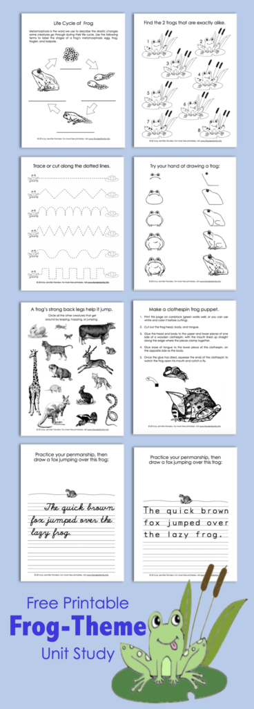 Frog-Themed Activity Sheets