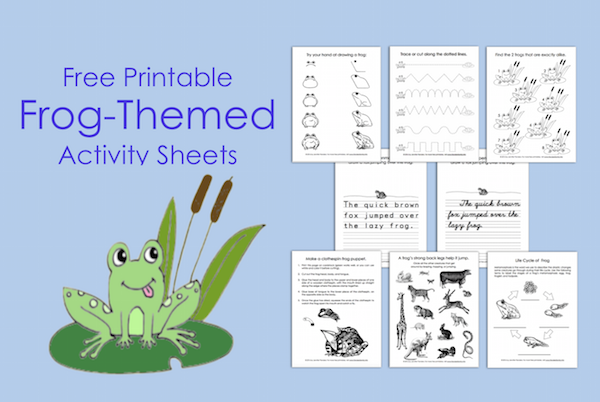 Free Printable Frog-Themed Activity Sheets