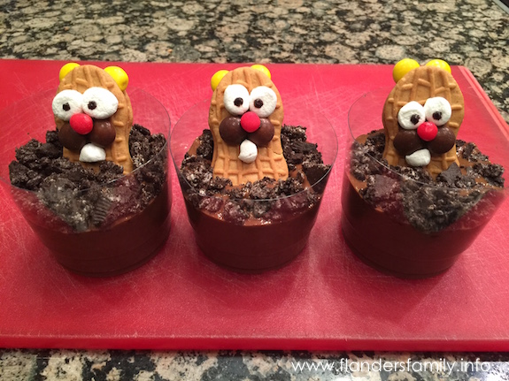 Fun Food: Groundhog Day Pudding Dirt Cups