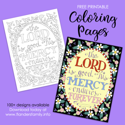 The Lord is Good Coloring Page