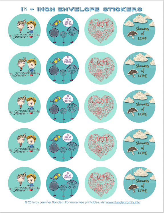 Free Printable Valentine Stickers - Flanders Family Homelife