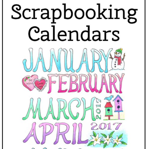 Mailbag: 2017 Scrapbooking Calendar