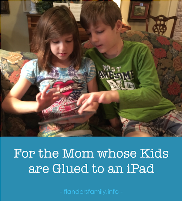 Help for teaching kids to attend to priorities before picking up the iPad