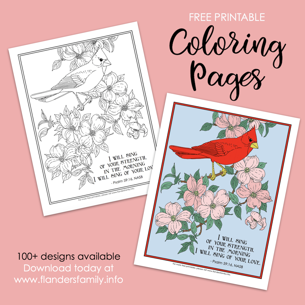 Sing of Your Love Coloring Page