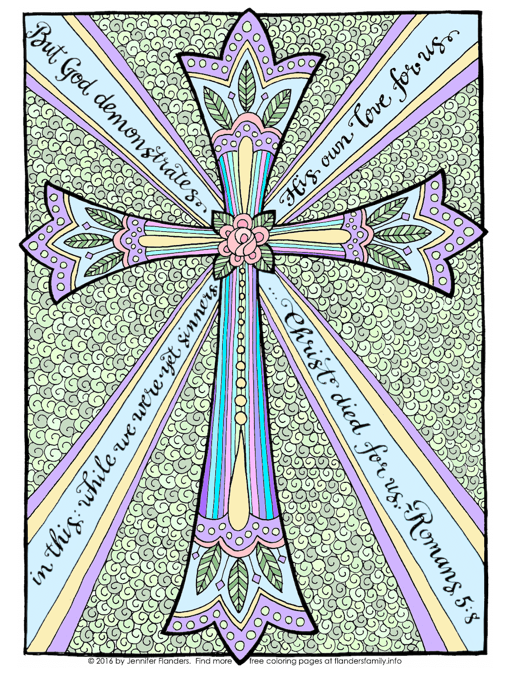 The Cross of Christ Coloring Page - Color