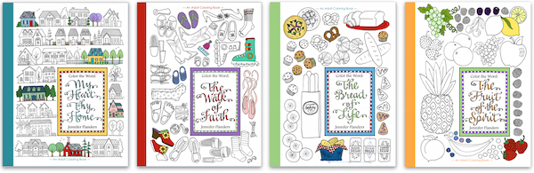 Color the Word - richly detailed, Scripture-based coloring books for all ages