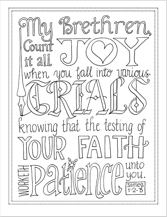 Count It All Joy (Coloring Page) - Flanders Family Homelife