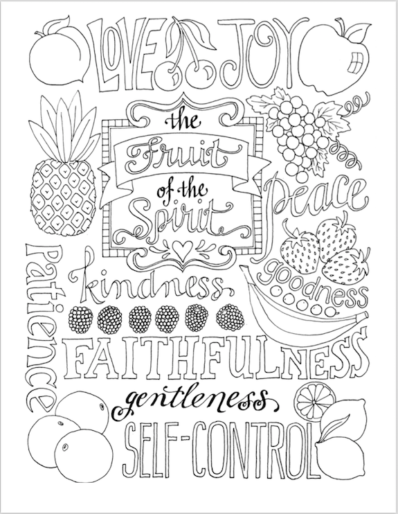 Fruit Of the Spirit Coloring Page Coloring Pages Fruit ...