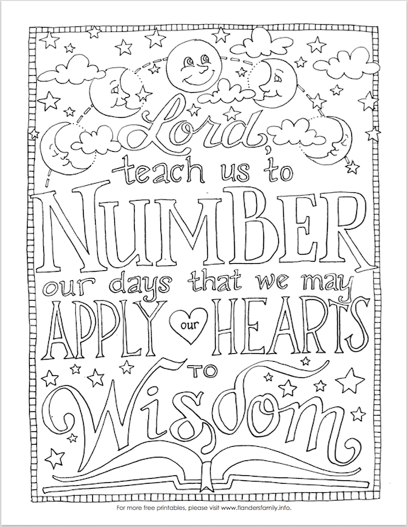 Number Your Days (Coloring Page)