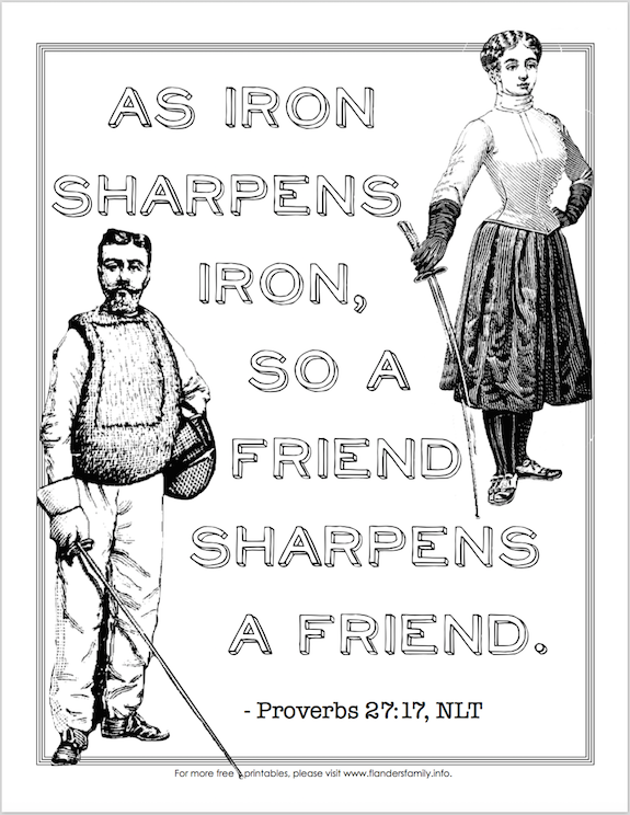 Iron Sharpens Iron (Coloring Page)