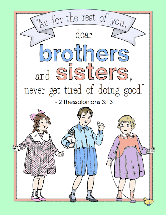 Sibling Day Coloring Page