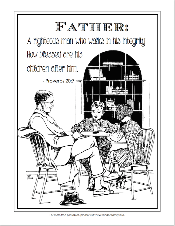 Happy Father's Day (Free Coloring Page)