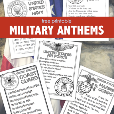 Free Printable Military Anthems
