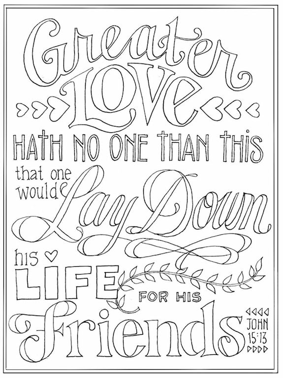 Coloring pages for Valentine's Day -- from flandersfamily.info