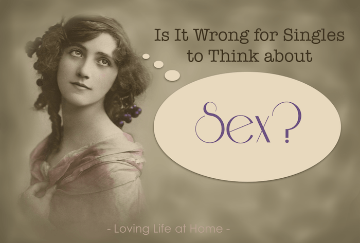 Is It wrong for singles to think about sex? How would you answer this question? What does the Bible say?