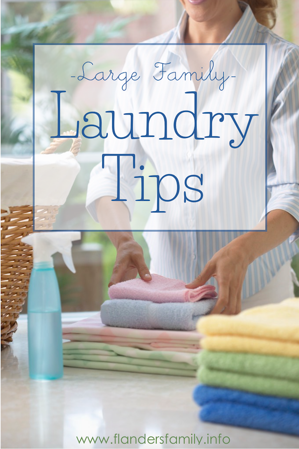 Large Family Laundry Tips - with free printable stain removal chart