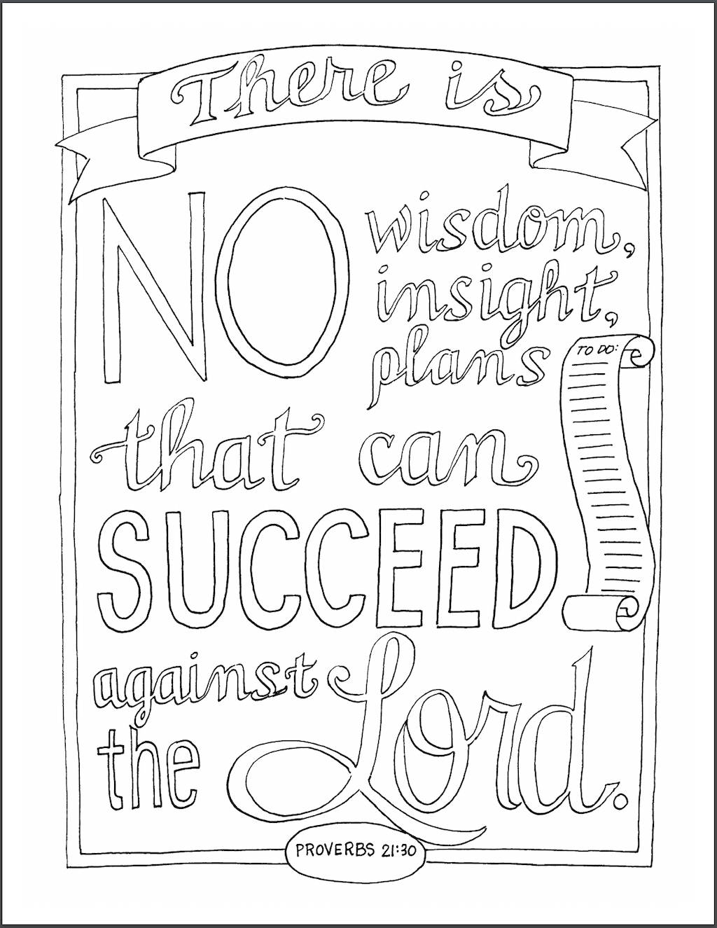 Plan For Success Coloring Page Flanders Family Homelife