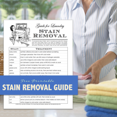 Free Stain Removal Chart & Laundry Tips