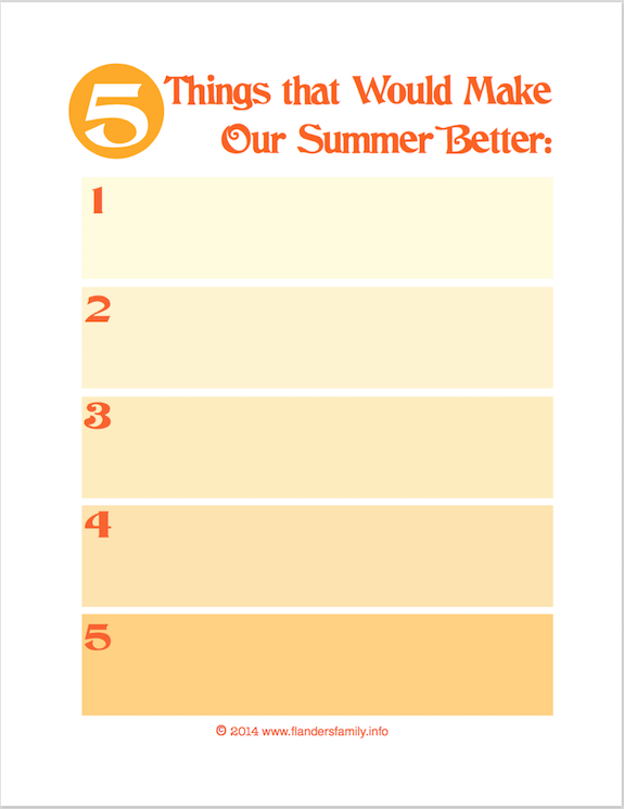 5 Things That Would Make Our Summer Better