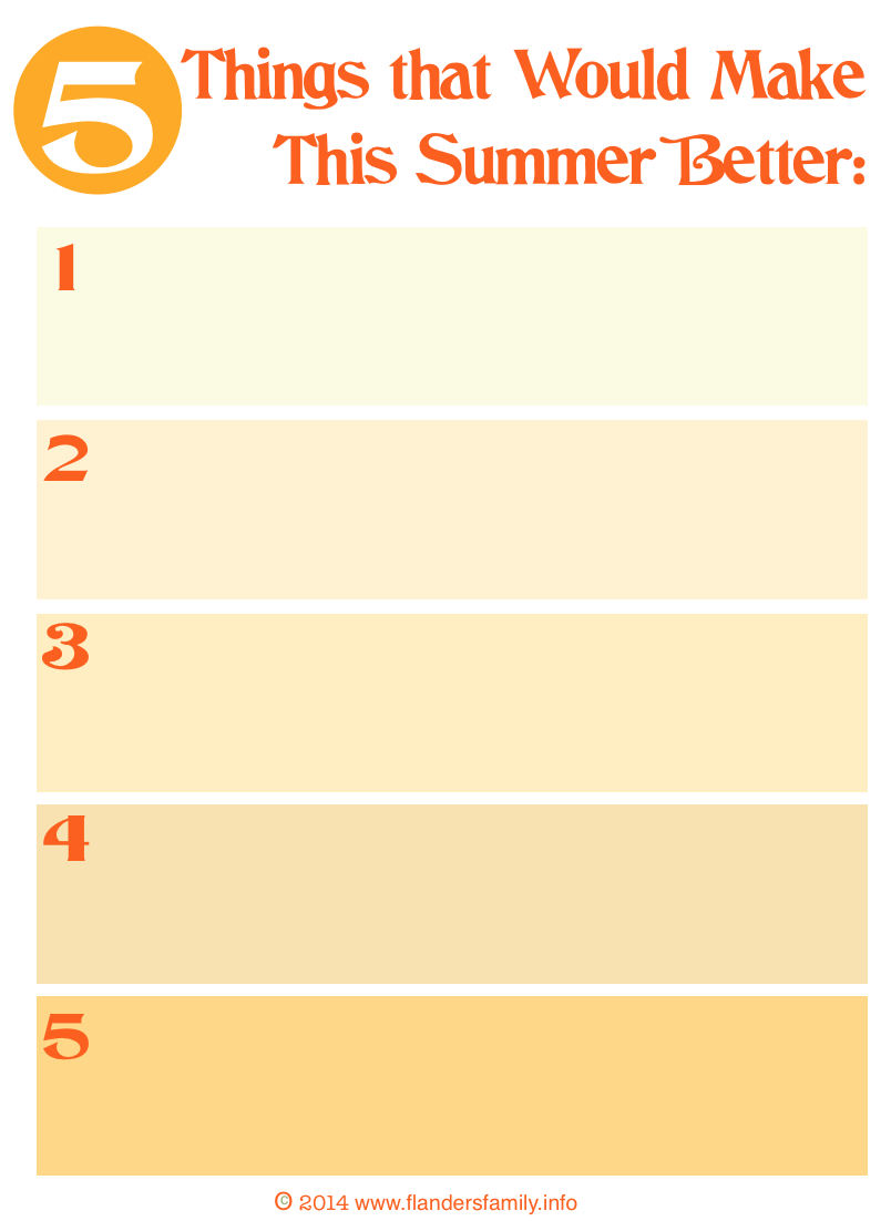 5 Things that Will Make Your Summer Better