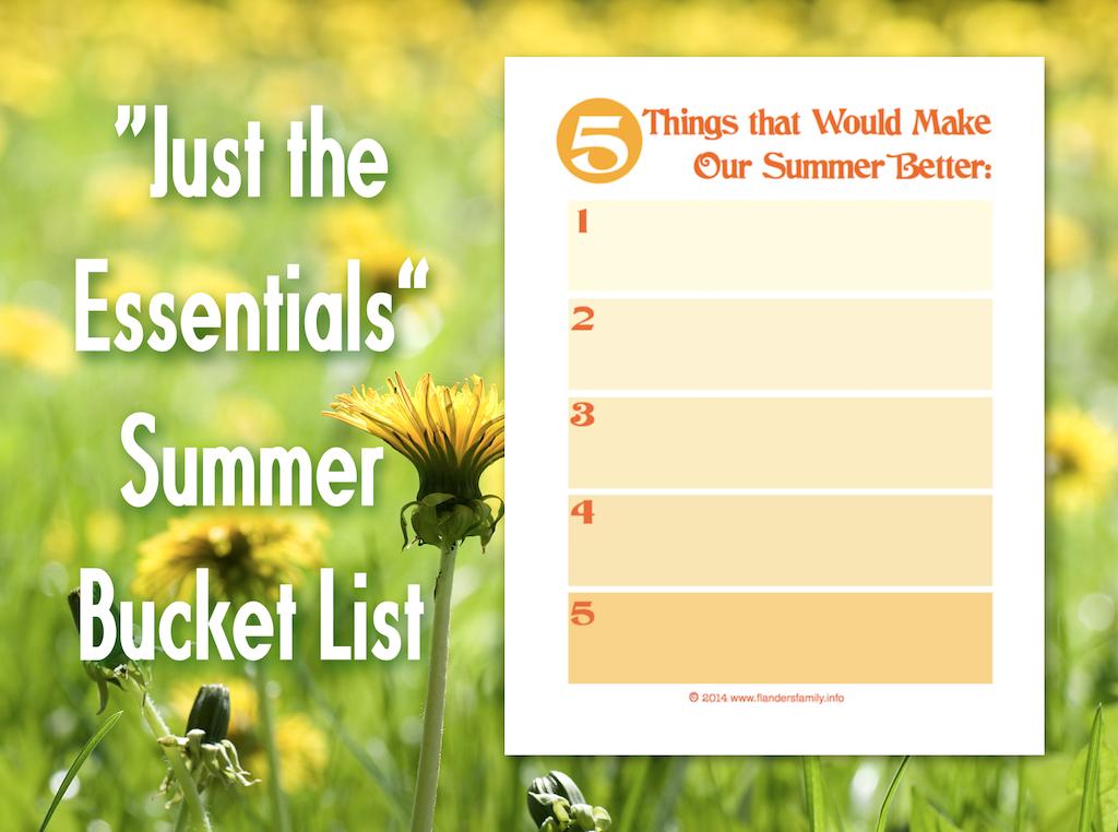 Essential Summer Bucket List