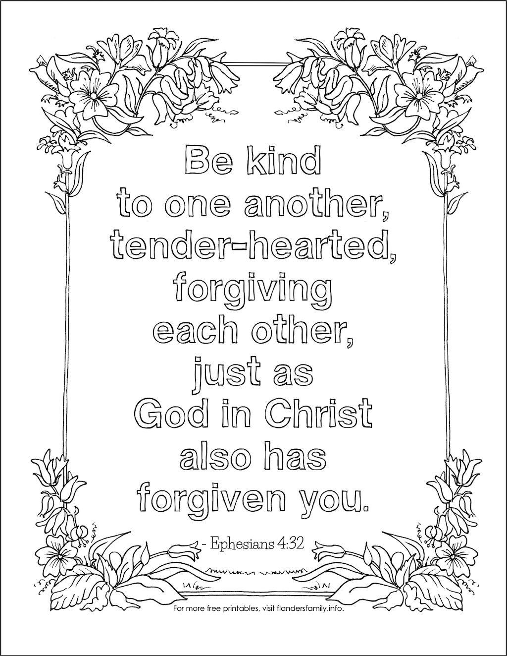Be kind to one another (Free printable)