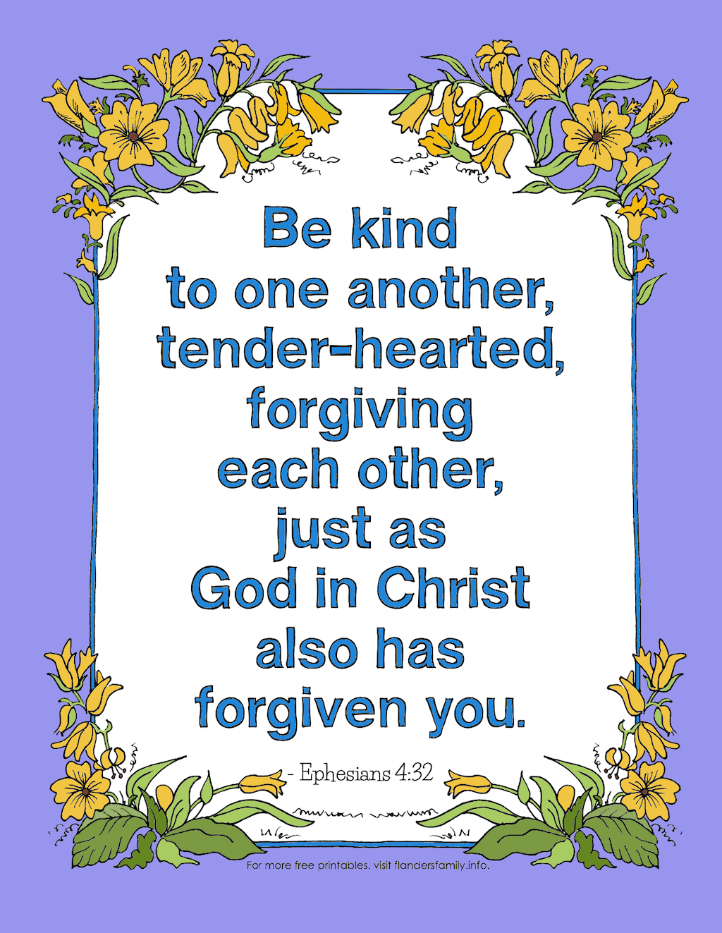 Be kind to one another...