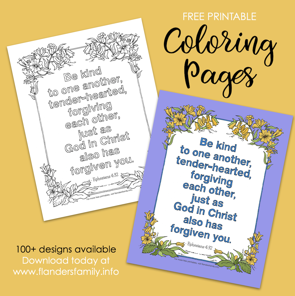 Forgive Freely Coloring Page