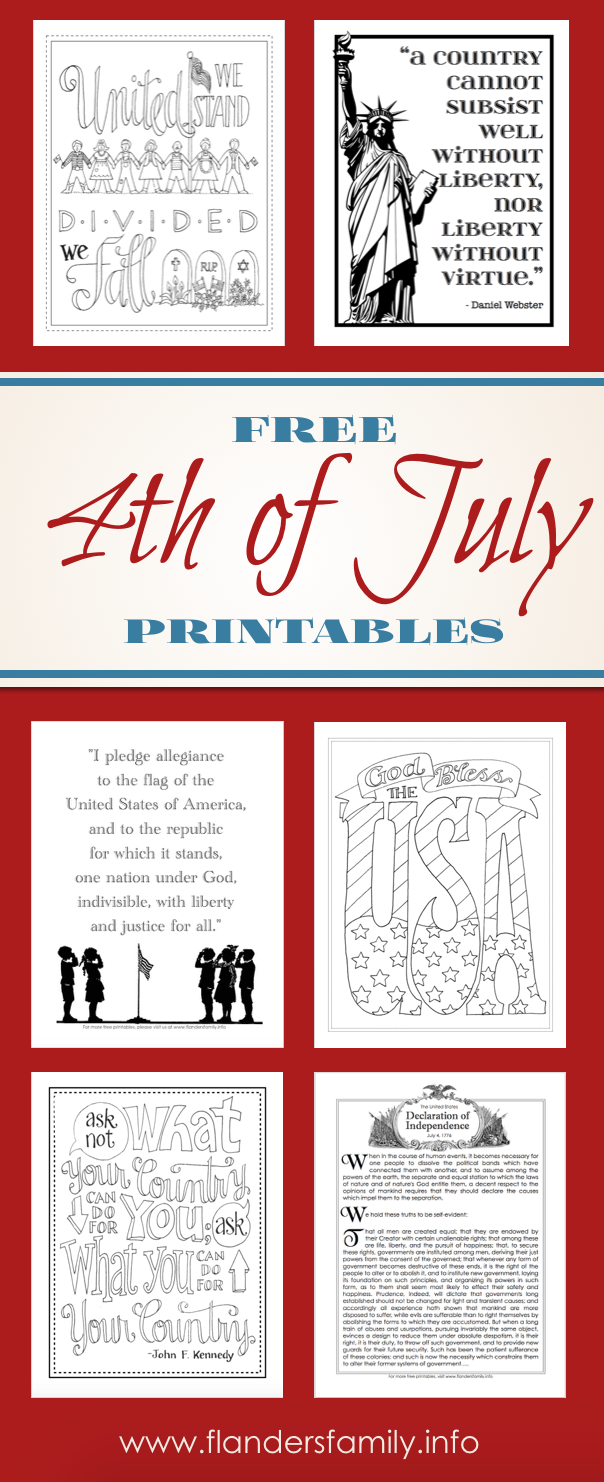 Free Printables for Fourth of July