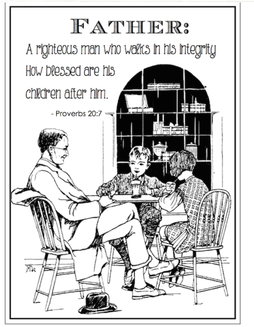 Man of Integrity Coloring Page