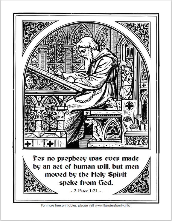 Reading God's Word (Free Coloring Page)