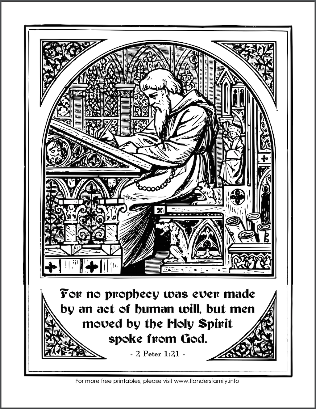 Bible Prophecy Coloring Page