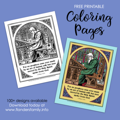 Bible Prophecy Coloring Page: Reading God's Word