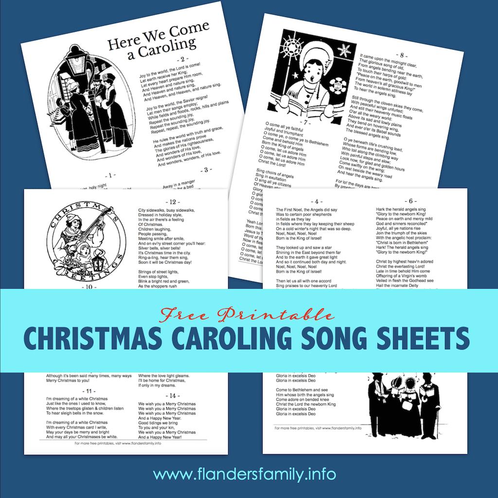 Christmas Carol Song Sheets Free Printable Flanders Family Homelife