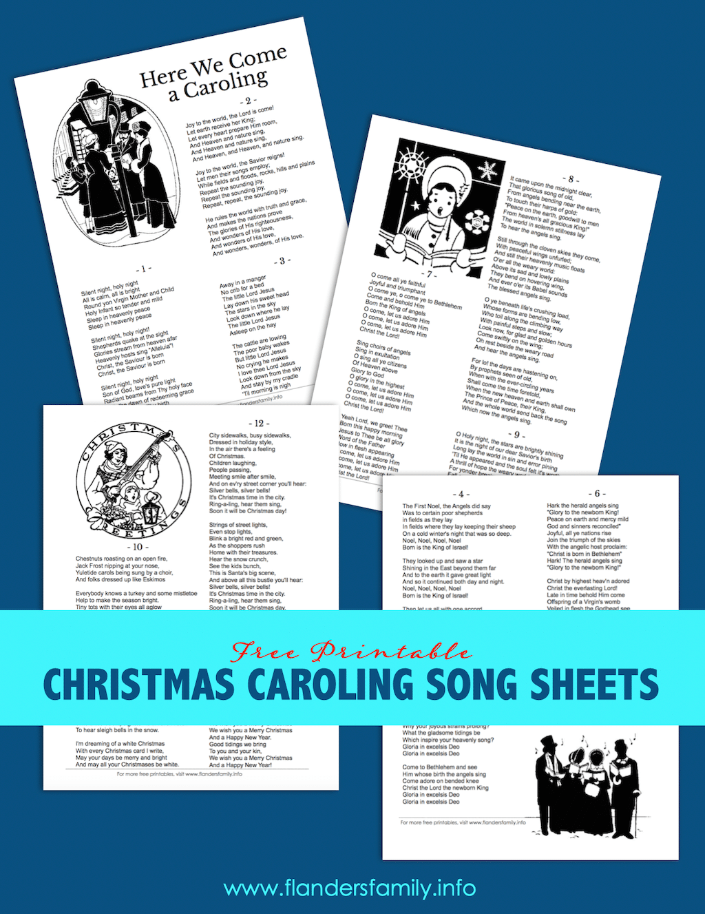 Christmas Carol Song Sheets