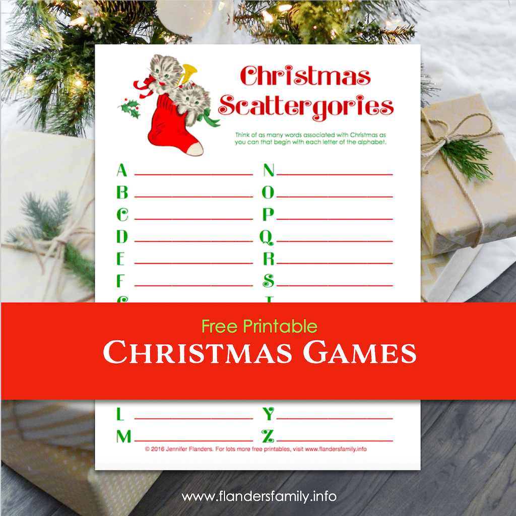 Christmas Scattergories Game Free Printable Flanders Family Homelife