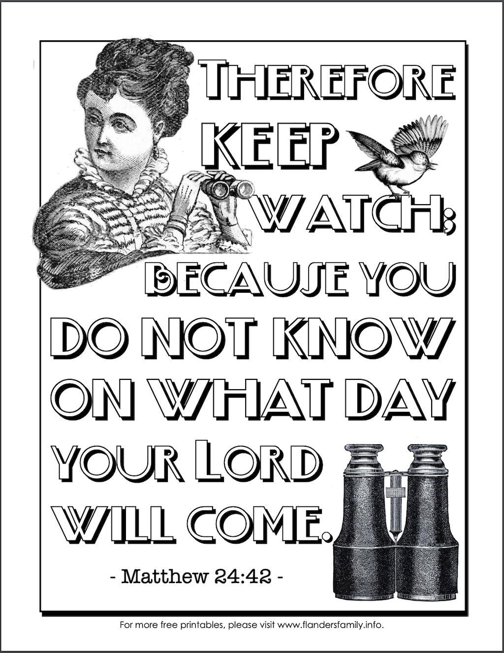 Keep Watch Coloring Page