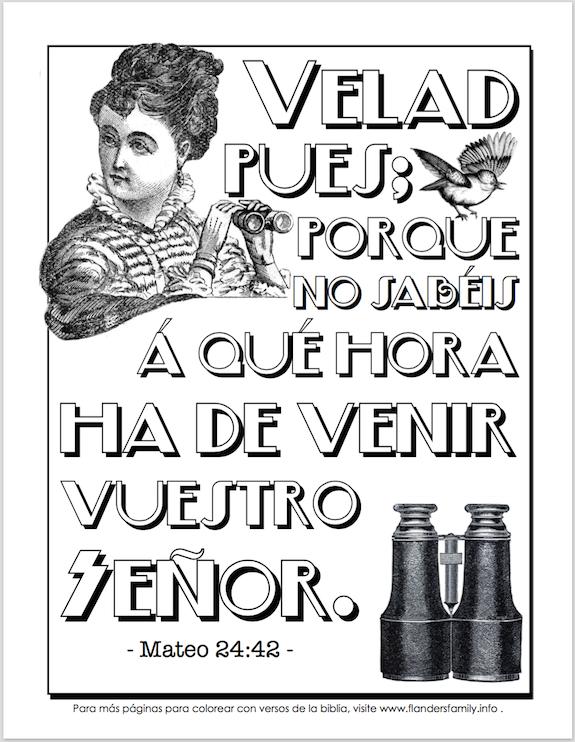 Dibujos para colorear verso de la Biblia en español gratis -- de www.flandersfamily.info .
