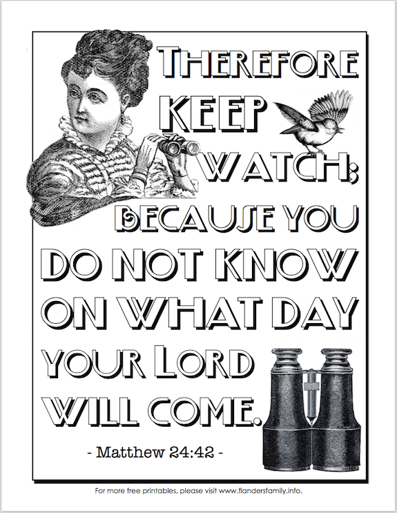 Free printable Bible-based coloring pages -- we publish a new one every week. Download them all!