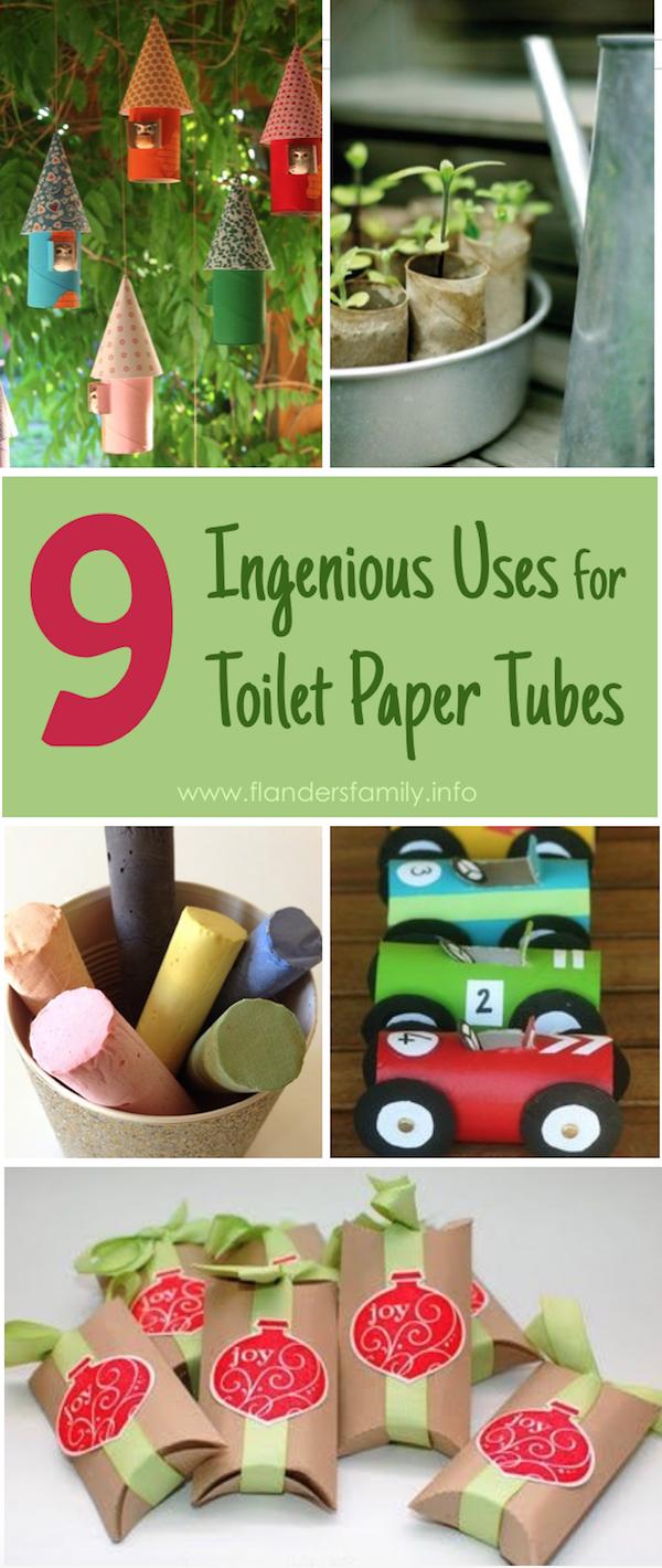 9 Ingenius Uses for Toilet Paper Tubes