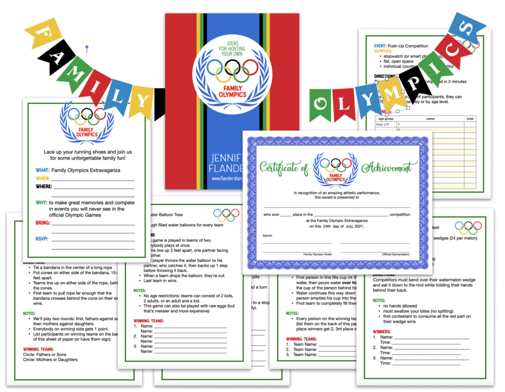 Family Olympic Print Pack
