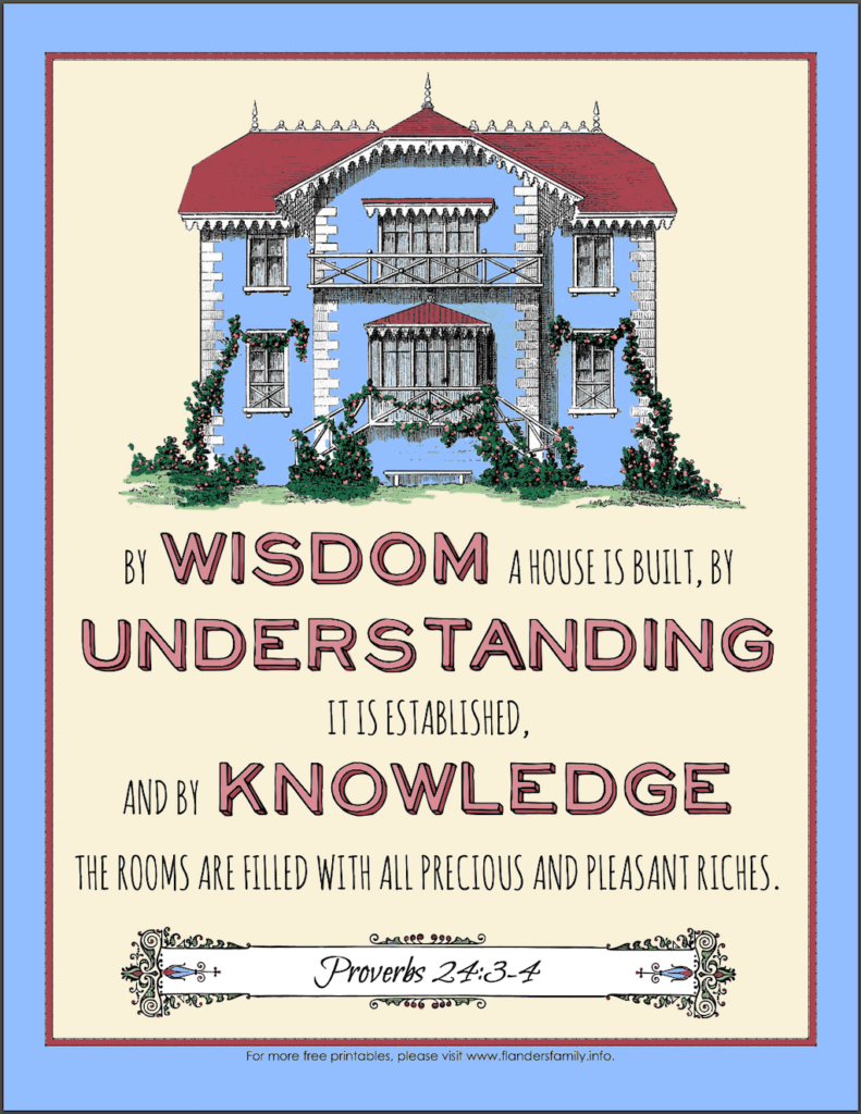 By Wisdom a House is Built Coloring Page