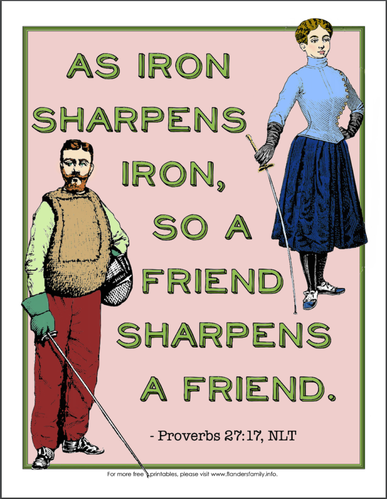 Iron Sharpens Iron Coloring Page