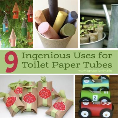 9 Ingenious Uses for Toilet Paper Tubes