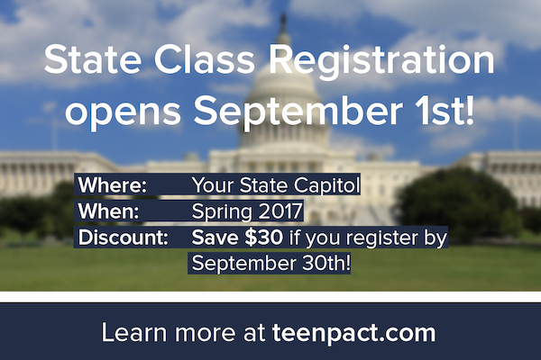 TeenPact State Classes provide a wonderful, hands-on way for students to learn about the political process